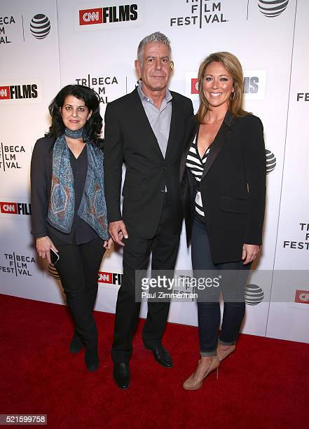 Director Lydia Tenaglia Executive Producer Anthony Bourdain and TV Anchor Brooke Baldwin at CNN Films Jeremiah Tower The Last Magnificent at TFF...