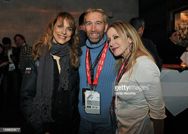 Director Lynn Sheldon producer Christo Dimassis and writer Elana Krausz attend the Film Independent Sundance Reception at Riverhorse Cafe during the...