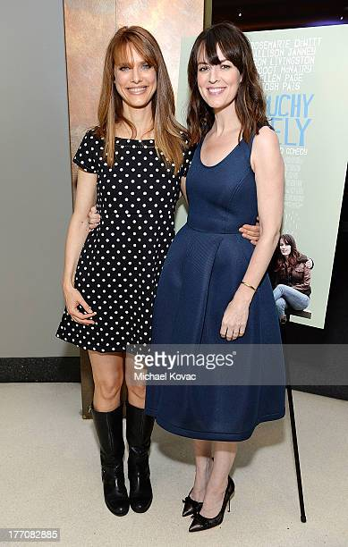 Director Lynn Shelton and actress Rosemarie DeWitt attend the Touchy Feely Los Angeles Screening at the Landmark Theater on August 20 2013 in Los...