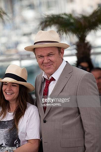 Director Lynne Ramsay and actor John C Reilly attend the 'We Need To Talk About Kevin' photocall during the 64th Annual Cannes Film Festival at the...
