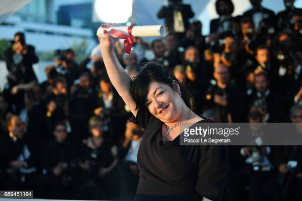 Director Lynne Ramsey who won the award for Best Screenplay for the movie 'You Were Never Really Here' attends the Palme D'Or winner photocall during...