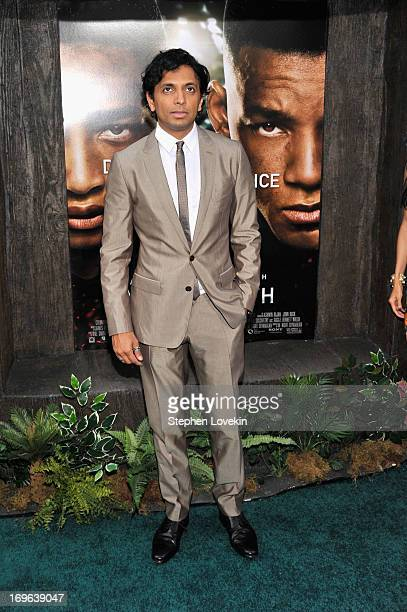 Director M Night Shyamalan attends the After Earth premiere at the Ziegfeld Theater on May 29 2013 in New York City