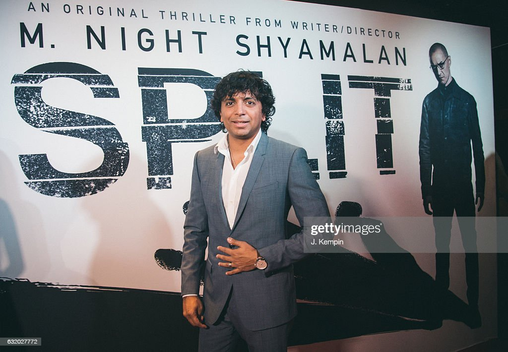 Director M. Night Shyamalan attends the premiere of Split at SVA Theater on January 18, 2017 in New York City.