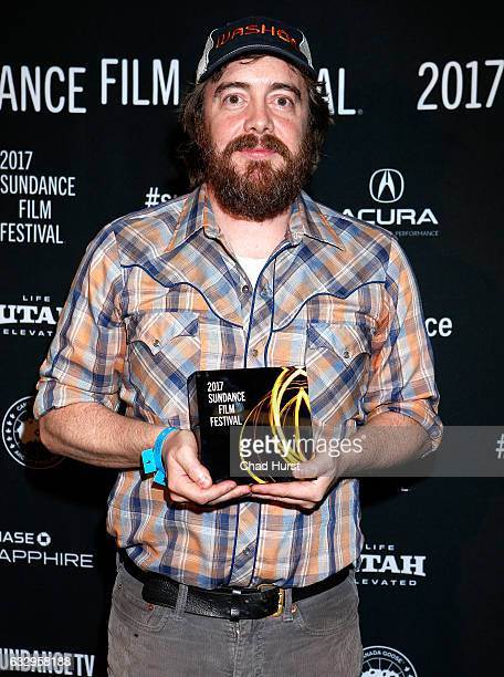 Director Macon Blair accepts the US Dramartic Grand Jury Prize for his film 'I Don't Feel at Home in This World Anymore' during the 2017 Sundance...
