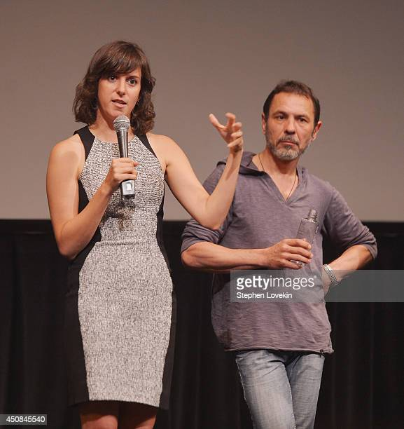 Director Madeleine Sackler and actor/film subject Oleg Sidorchyk speak to the audience at a special screening of HBO's Dangerous Acts Starring The...