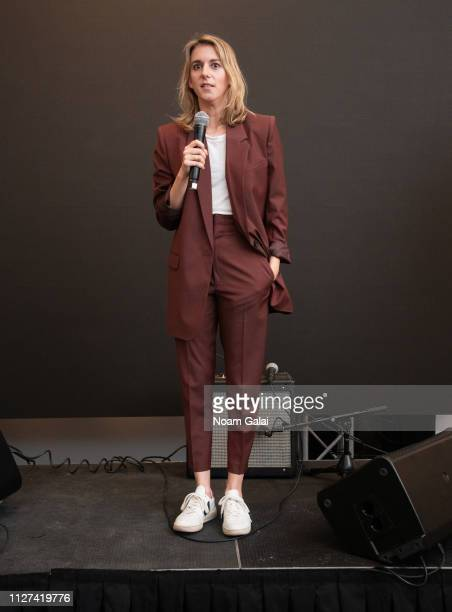Director Madeleine Sackler speaks at The OG Experience by HBO at Studio 525 on February 23 2019 in New York City