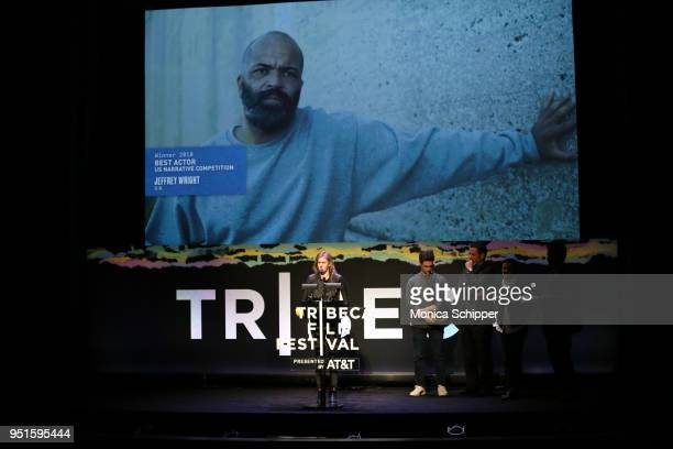 Director Madeleine Sackler speaks onstage during the 2018 Tribeca Film Festival presented by ATT Jury Awards hosted by Chloe Wine Collection at BMCC...
