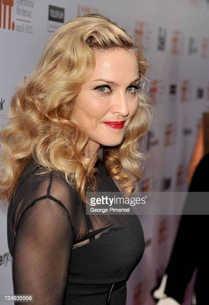 Director Madonna arrives at 'WE' Premiere at Roy Thomson Hall during the 2011 Toronto International Film Festival on September 12 2011 in Toronto...