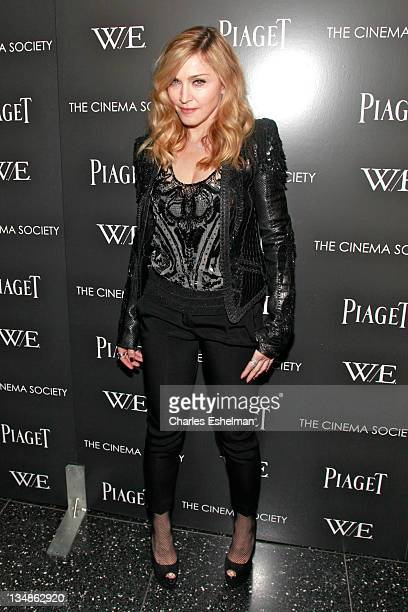 Director Madonna attends The Cinema Society Piaget screening of 'WE' at The Museum of Modern Art on December 4 2011 in New York City
