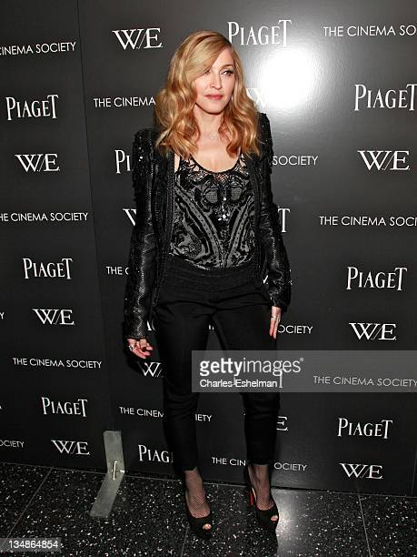 Director Madonna attends The Cinema Society Piaget screening of WE at The Museum of Modern Art on December 4 2011 in New York City