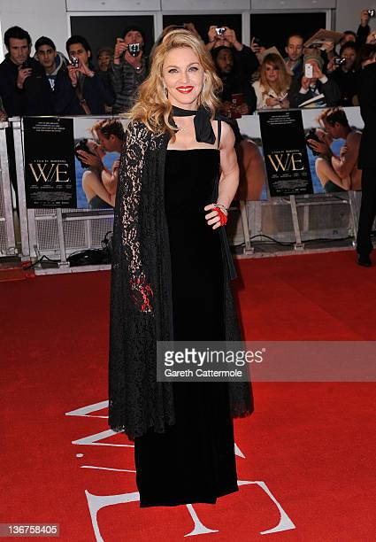 Director Madonna attends the WE UK film premiere at the Odeon Kensington on January 11 2012 in London England
