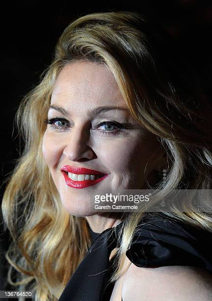 Director Madonna attends the 'WE' UK film premiere at the Odeon Kensington on January 11 2012 in London England