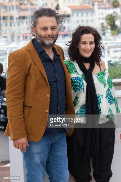 Director Maha Haj and producer Baher Agbariya attend the 'Personal Affairs ' photocall during the 69th annual Cannes Film Festival at the Palais des...
