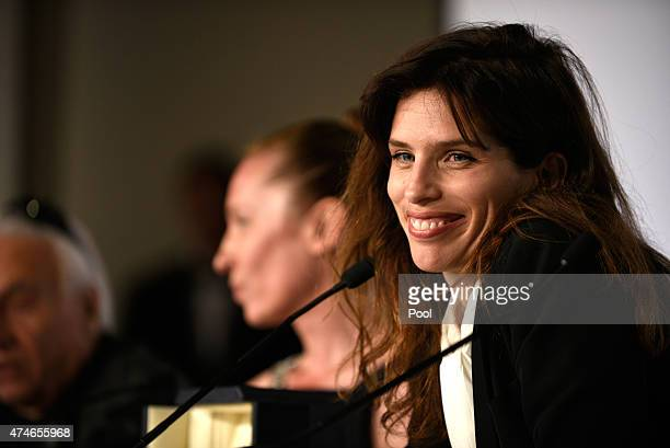 Director Maiwenn attends the Palm D'Or Winners press conference during the 68th annual Cannes Film Festival on May 24 2015 in Cannes France