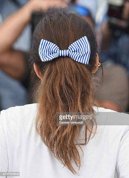 Director Maiwenn hair detail attends Mon Roi Photocall during the 68th annual Cannes Film Festival on May 17 2015 in Cannes France