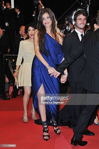 Director Maiwenn Le Besco and actor Jeremie Elkaim attend the 'Polisse' premiere at the Palais des Festivals during the 64th Cannes Film Festival on...