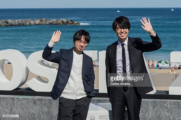 Director Makoto Shinkai and productor Genki Kawamura attend 'Kimi No Na Wa ' photocall during 64th San Sebastian Film Festival on September 24 2016...