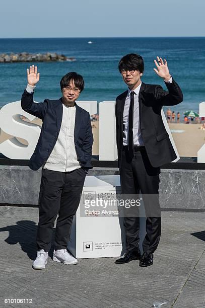 Director Makoto Shinkai and productor Genki Kawamura attend 'Kimi No Na Wa ' photocall during 64th San Sebastian Film Festival on September 24, 2016...