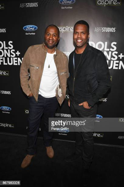 Director Malcolm D Lee and journalist A J Calloway attend Idols Icons Influencers With Malcolm D Lee at The Gathering Spot on October 29 2017 in...