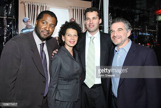 Director Malcolm D Lee Universal's Donna Langley and producers Scott Stuber and Charles Castaldi arrive to the premiere of Welcome Home Roscoe...