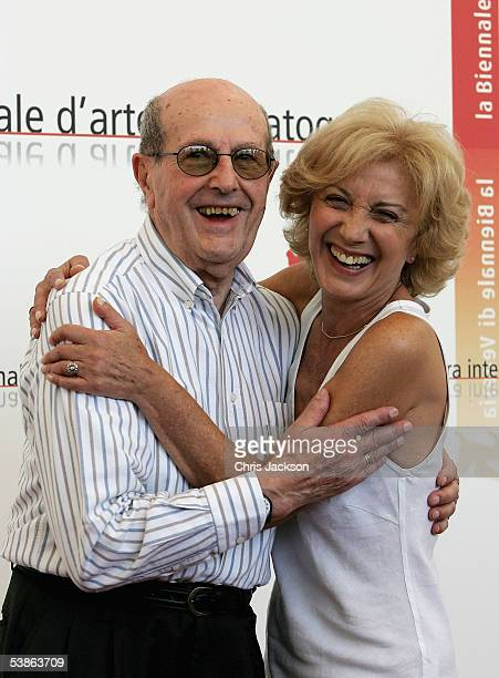 Director Manoel de Oliveira and actress Marisa Paredes share a joke at the photo call for Espelho Magico as part of the 62nd Venice Film Festival on...