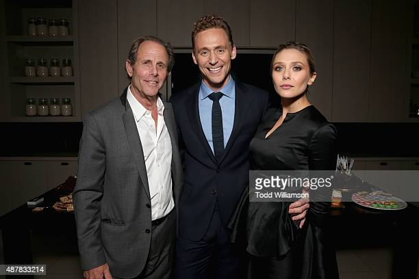 """Director Marc Abraham, Actors Tom Hiddleston and Elizabeth Olsen attend Sony Pictures Classics after party for """"I Saw The Light"""" sponsored by Lacoste..."""