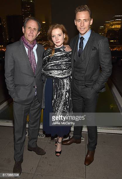 Director Marc Abraham actress Wrenn Schmidt and actor Tom Hiddleston attend the after party for the screening of Sony Pictures Classics' I Saw the...