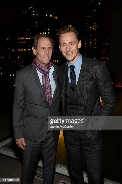 Director Marc Abraham and actor Tom Hiddleston attend the after party for the screening of Sony Pictures Classics' I Saw the Light hosted by The...