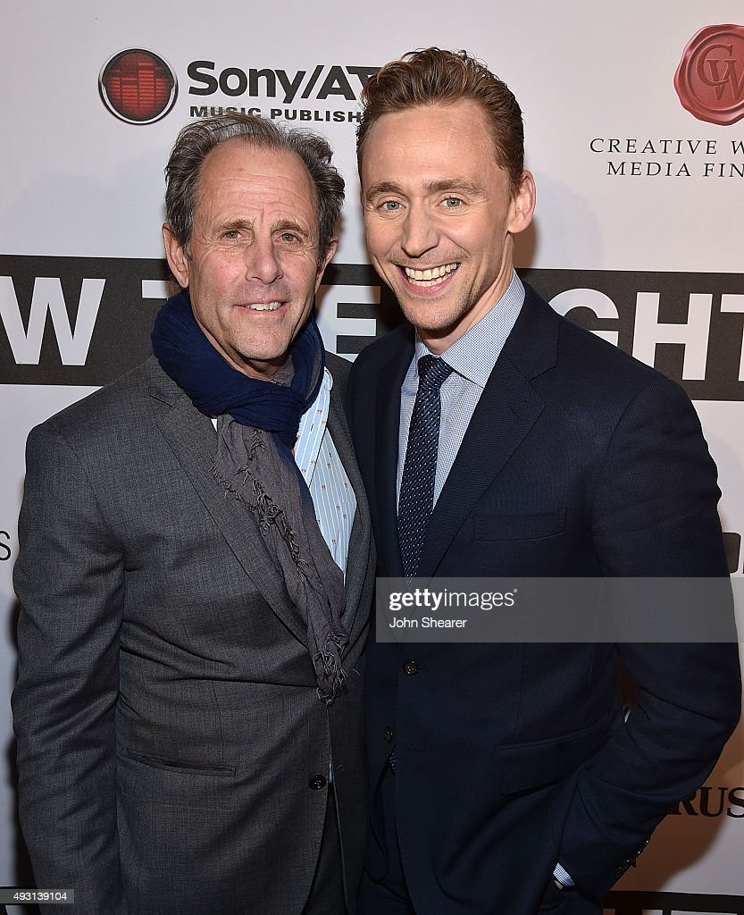 Director Marc Abraham, left, and actor Tom Hiddleston attends the premiere of 'I Saw The Light' at The Belcourt Theatre on October 17, 2015 in Nashville, Tennessee.
