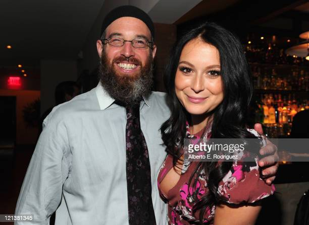 Director Marc Erlbaum and actress Alexa Vega attend the after party for the premiere of Maya Entertainment's Cafe on August 18 2011 in Los Angeles...
