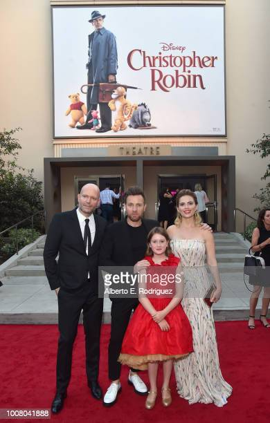 Director Marc Forster actors Ewan McGregor Bronte Carmichael and Hayley Atwell attend the world premiere of Disney's 'Christopher Robin' at the Main...