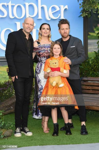 Director Marc Forster Hayley Atwell Ewan McGregor and Bronte Carmichael attend the European Premiere of Christopher Robin at the BFI Southbank on...