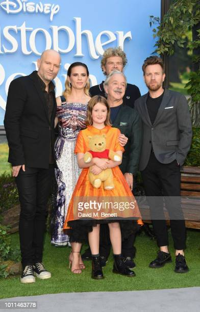 Director Marc Forster Hayley Atwell Jim Cummings Simon Farnaby Ewan McGregor and Bronte Carmichael attend the European Premiere of Christopher Robin...