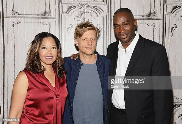 Director Marc Silver joined by the parents of documentary's subject a teen who died in the fatal encounter Lucy McBath and Ron Davis attend AOL BUILD...