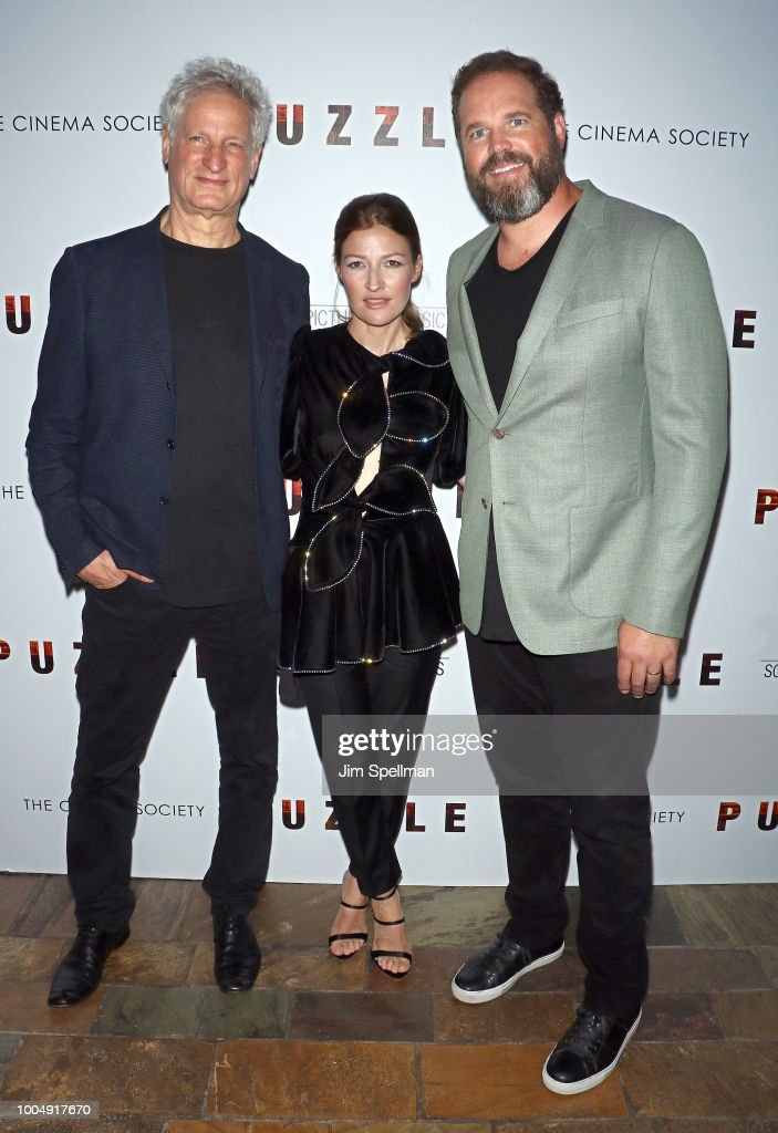 Director Marc Turtletaub, actors Kelly Macdonald and David Denman attend the screening of 'Puzzle' hosted by Sony Pictures Classics and The Cinema Society at The Roxy Cinema on July 24, 2018 in New York City.
