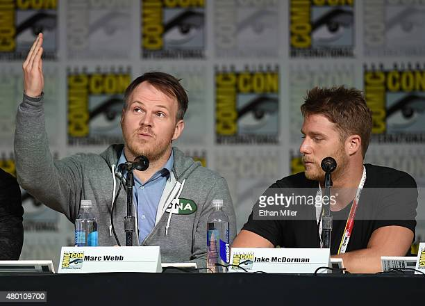 Director Marc Webb and actor Jake McDorman attend CBS TV Studios' panel for Limitless during ComicCon International 2015 at the San Diego Convention...