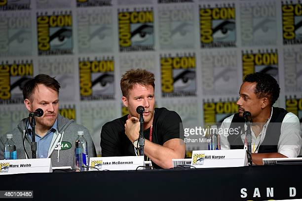 Director Marc Webb and actors Jake McDorman and Hill Harper attend CBS TV Studios' panel for Limitless during ComicCon International 2015 at the San...