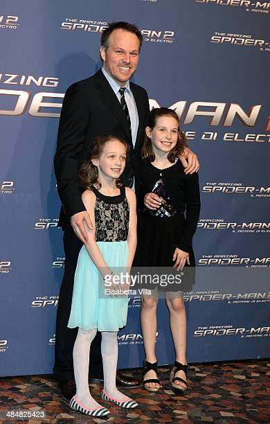 Director Marc Webb and his daughters attend 'The Amazing Spider-Man 2: Rise Of Electro' Rome Premiere at The Space Moderno Cinema on April 14, 2014...