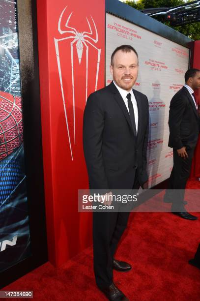 Director Marc Webb arrives at the Los Angeles premiere of 'The Amazing Spiderman' at Regency Village Theatre on June 28 2012 in Westwood California