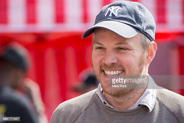Director Marc Webb attends The Amazing SpiderMan 2 Be Amazing Day Volunteer Day at IS 145 Joseph Pulitzer on April 25 2014 in the Queens borough of...