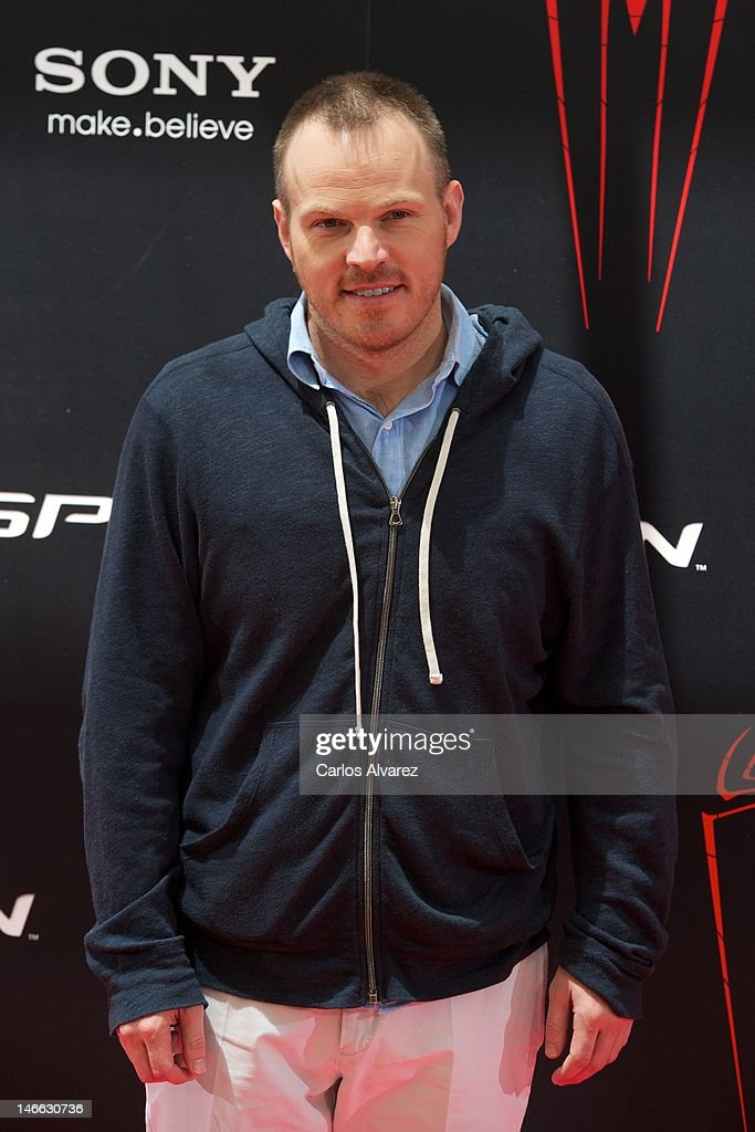 Director Marc Webb attends 'The Amazing Spider-Man' photocall at Villamagna Hotel on June 21, 2012 in Madrid, Spain.