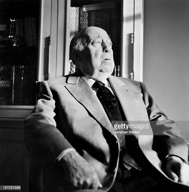 Director Marcel Carne is photographed for Vanity Fair Magazine on December 15 1995 at home SaintGermaindesPres in Paris France PUBLISHED IN JONATHAN...