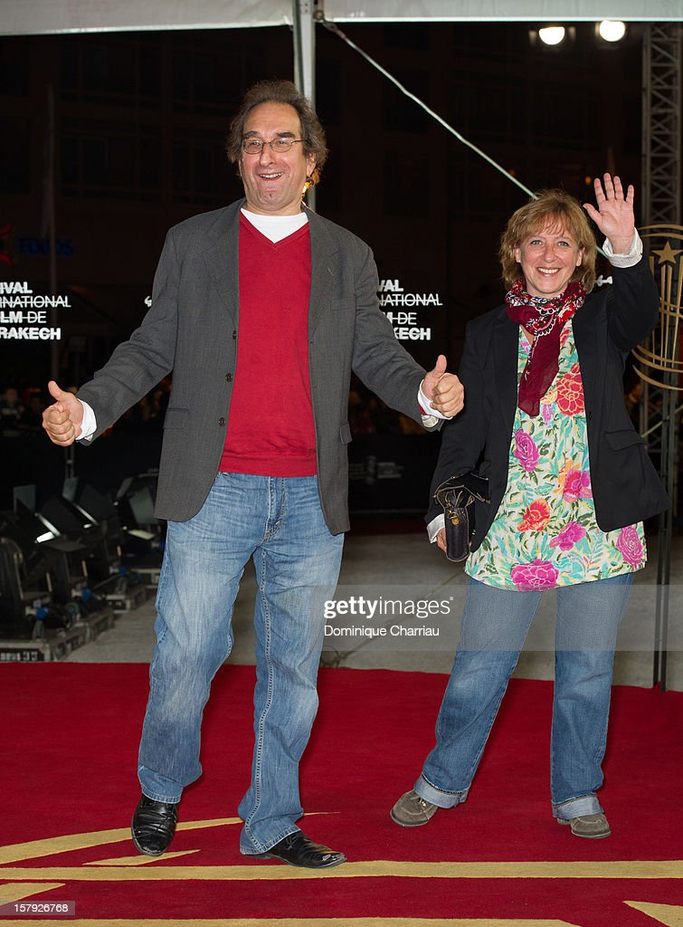 Director Marc-Henri Wajnberg (L) and guest poses as he arrives at the 'Ginger & Rosa' Premiere during the 12th International Marrakech Film Festival on December 7, 2012 in Marrakech, Morocco.