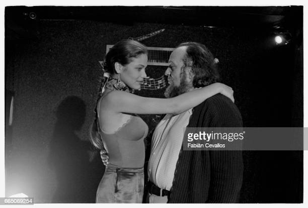 Director Marco Ferreri and actress Ornella Muti during the filming of Tales of Ordinary Madness The film is the story of an alcoholic poet and a...