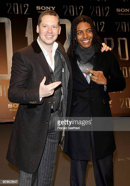 Director Marco Kreuzpaintner and Kelnner Franca attend the Europe premiere of 2012 at the Sony Center CineStar on November 8 2009 in Berlin Germany