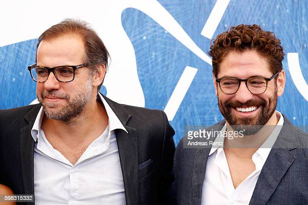 Director Marco Martin and actor Nuno Lopes attend a photocall for 'Saint George' during the 73rd Venice Film Festival at on September 1, 2016 in...