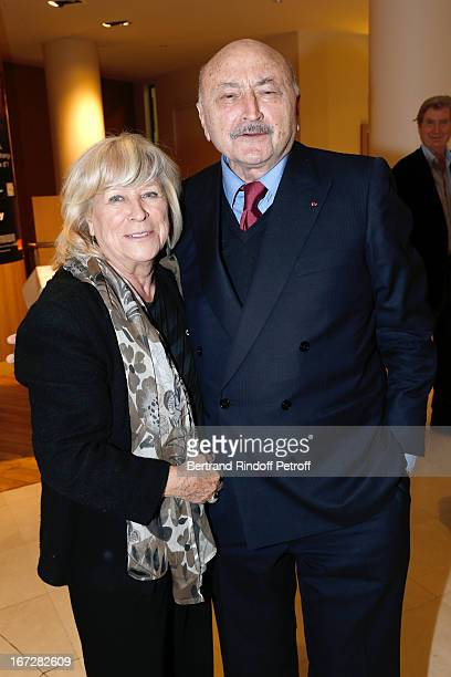 Director Margarethe Von Trotta and Lawyer Georges Kiejman attend 'Hannah Arendt' Paris movie Premiere held at Majestic Passy on April 23 2013 in...