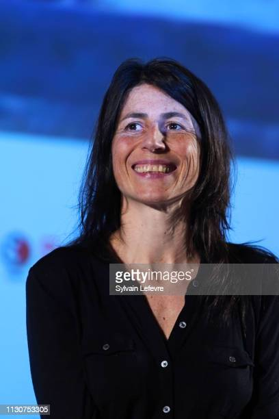 Director Margaux Bonhomme attends premiere of Marche ou creve at Imagix during 34th Mons International Film Festival on February 19 2019 in Mons...