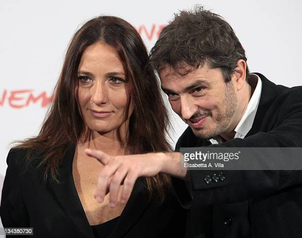 Director Maria Sole Tognazzi and Walter Fasano attend a photocall for 'Portrait Of My Father' during the 5th International Rome Film Festival at...