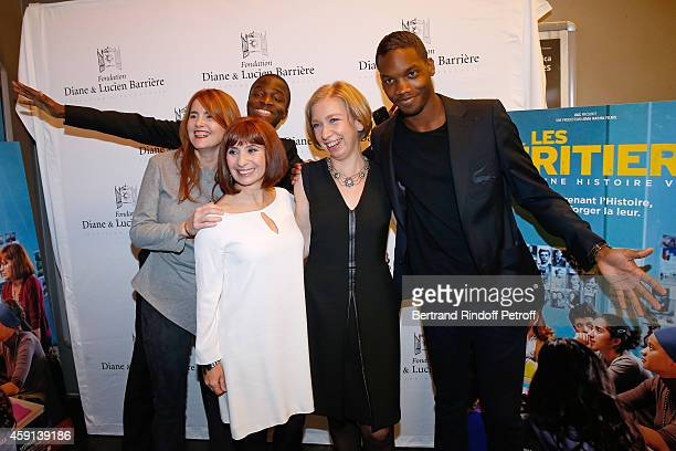 Director MarieCastille MentionSchaar actress Ariane Ascaride actor Stephane Bak the history professor whose film is inspired Anne Angles and actor...